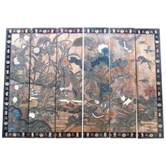 19th Century Chinese Coromandel Six-Panel Screen