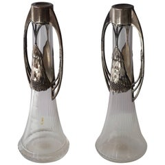 Pair of WMF Art Nouveau Silver Plated Vases