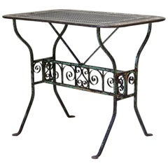 Elegant 1920s Painted Iron Table from Arras, France