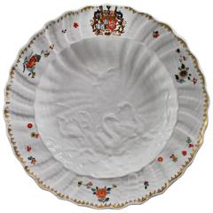 Meissen Armorial Plate from the Swan Service, circa 1738-1739