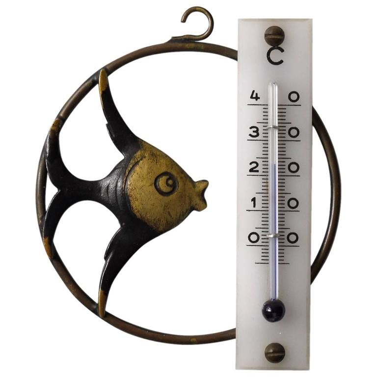 Walter Bosse Fish Wall Thermometer by Hertha Baller, Austria, 1950s