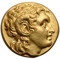 Ancient Greek Gold Coin of Alexander the Great, 305 BC