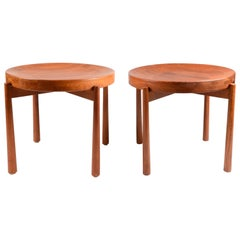 Pair of Tray Tables, in the Style of Jens Quistgaard, Denmark, Mid-1900s