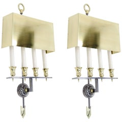 Pair of Sconces by Gilbert Poillerat