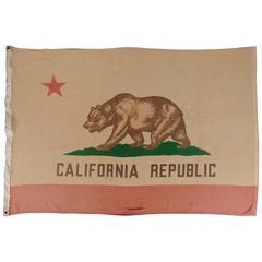 Vintage California State Flag, circa 1950s-1960s