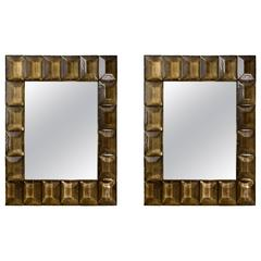 Pair of Style Modernist Mirrors