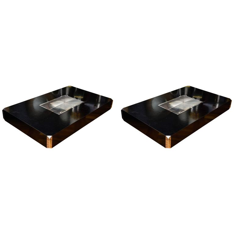 Pair of Alveo Coffee Tables by Willy Rizzo