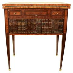 19 Century French Game Table with Book Spine Door