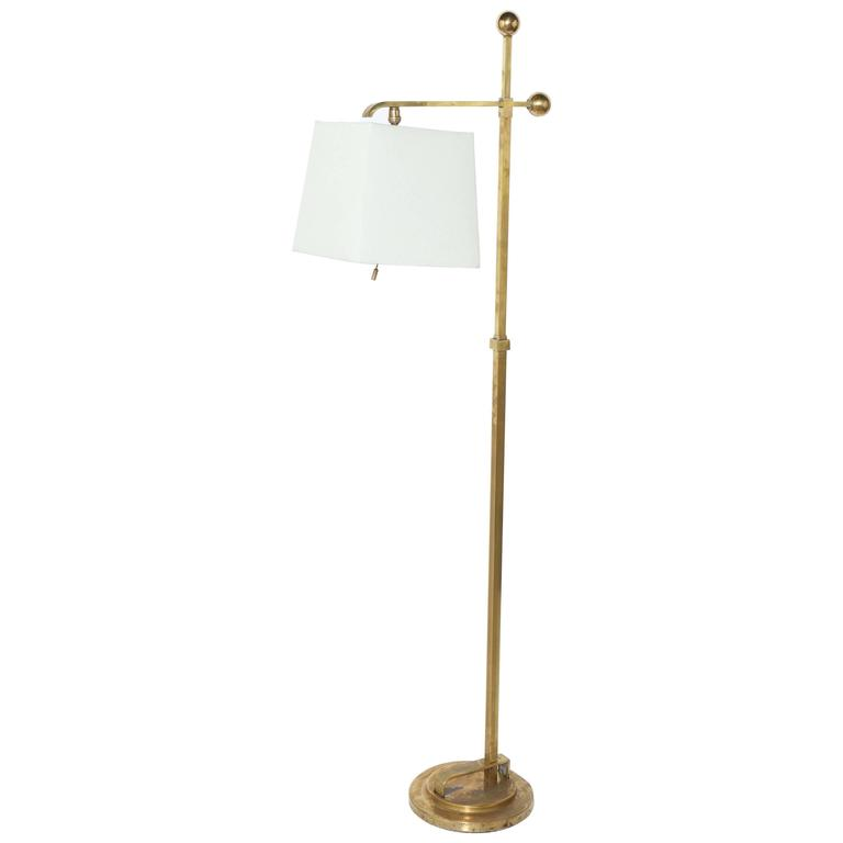1930 39 s donald deskey brass reading floor lamp with off for 1930s floor lamp