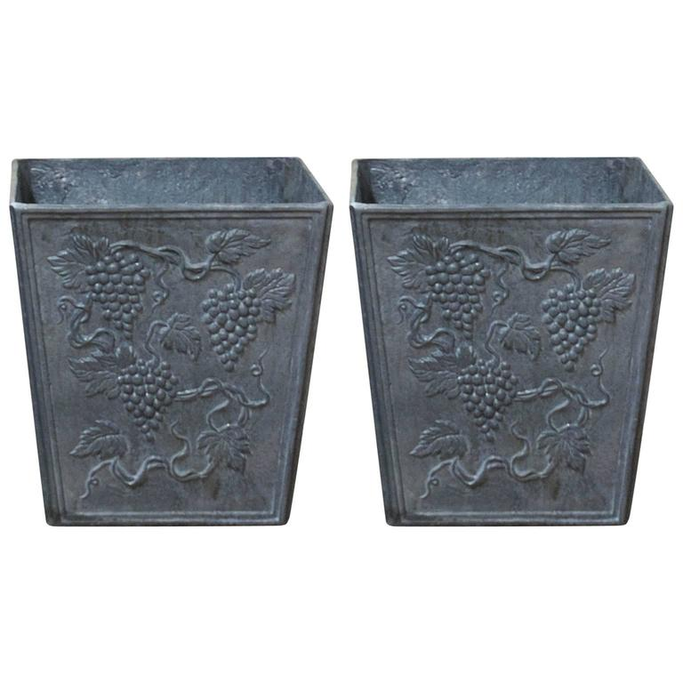 20th Century Pair of Lead Jardinieres Planters