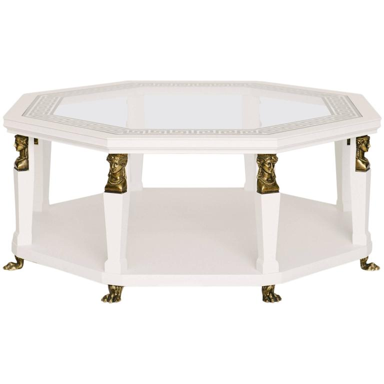 Baker octagon cocktail table at 1stdibs for Octagon coffee table