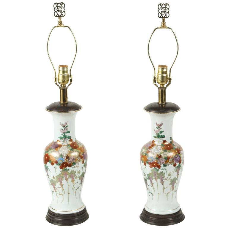 Pair Of Japanese Ceramic Table Lamps At 1stdibs