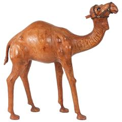 Moroccan Leather Wrapped Camel Sculpture