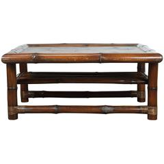 McGuire Large Bamboo Coffee Table