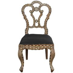 19th Century Anglo-Indian Bone-Inlaid Side Chair