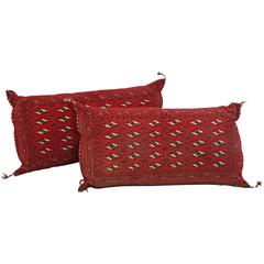 Large Handwoven Turkish Tribal Pillows