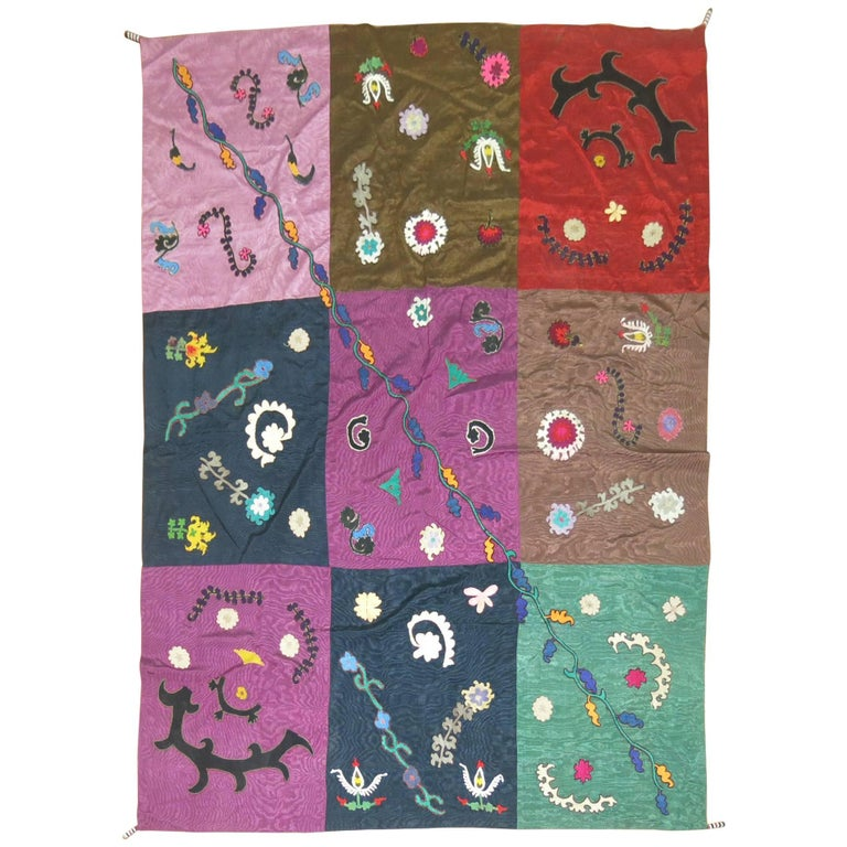 Vintage Uzbek Textile Embroidery For Sale