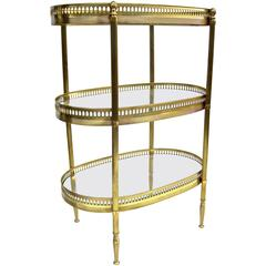 Diminutive Jansen-Style Three-Tier Side Table
