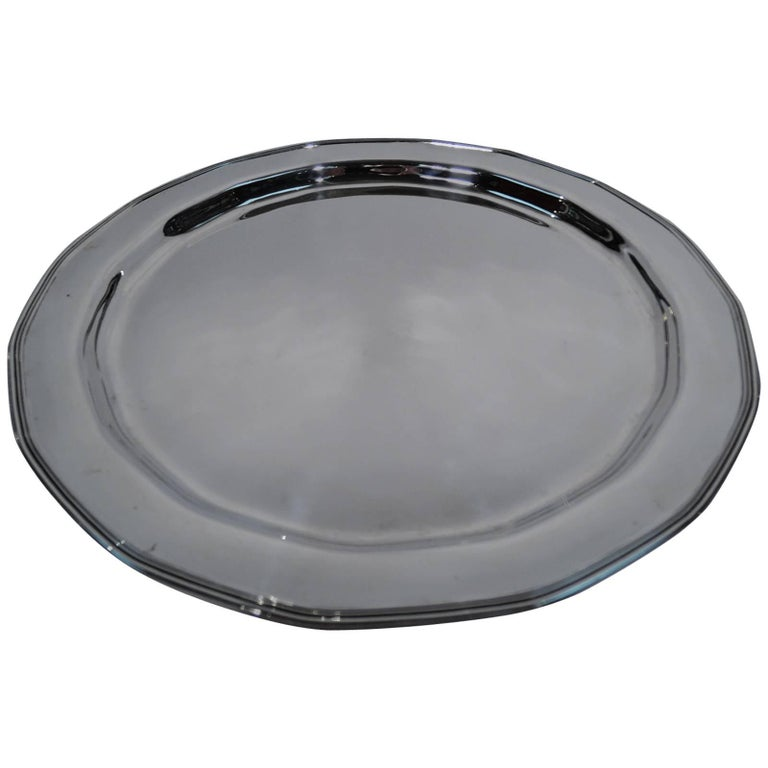 Tiffany Modern Sterling Silver Serving Tray For Sale