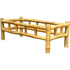 Organic Bamboo Coffee Table Attributed to Ralph Lauren
