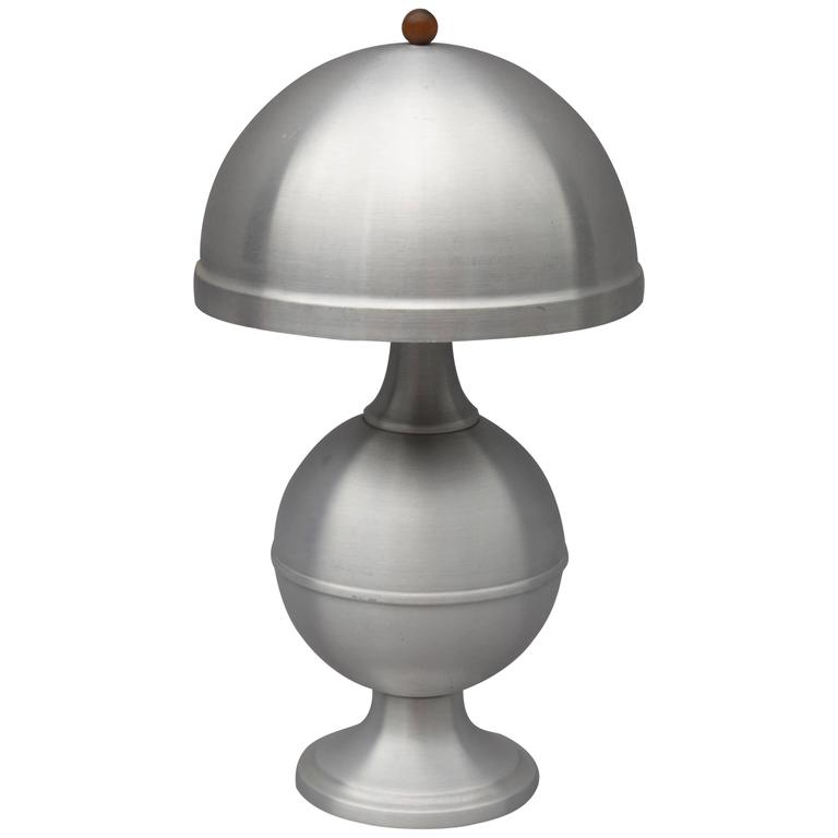 Machine Age Table Lamp Attributed To Russel Wright