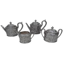 Classic Baltimore Repousse Coffee and Tea Set by Jacobi & Jenkins