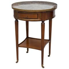 Directoire Style Gueridon with Marble Top