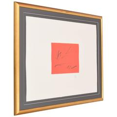Robert Motherwell Lithograph, Signed Limited Edition