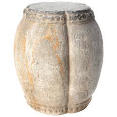 19th Century Stone Drum Stool