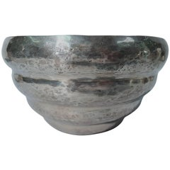 Antique South American Hand-Hammered Silver Beehive Bowl