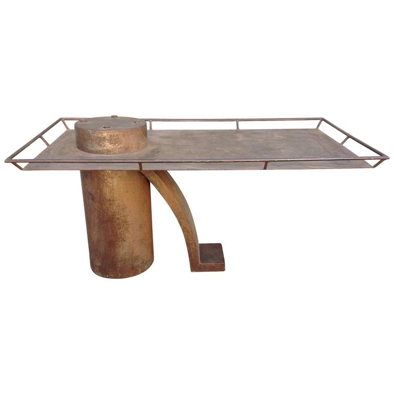 Post Modern Steel Coffee Table For Sale At Stdibs - Post modern coffee table