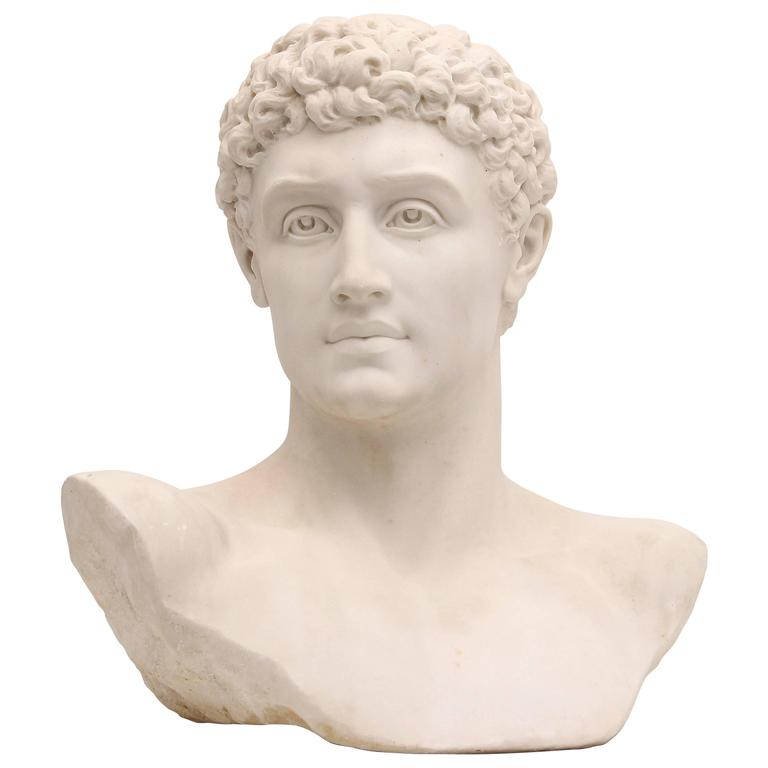 Hermes, Classical Greco Roman Marble Bust by American ...