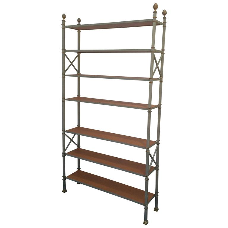maison jansen steel and bronze etagere for sale at 1stdibs. Black Bedroom Furniture Sets. Home Design Ideas