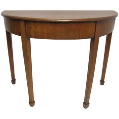 English Georgian Demilune Table