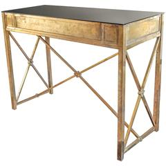 Bronze Console with Black Glass Top