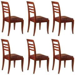 Paul Frechet Set of Six Mahogany Dining Chairs
