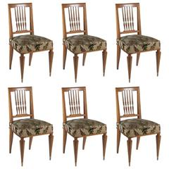Etienne Martin Set of Six Dining Chairs