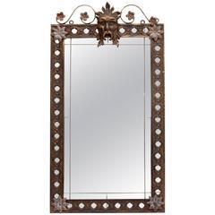 Antique Wrought Iron Mirror