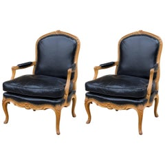 Pair of Beechwood Louis XV Armchairs