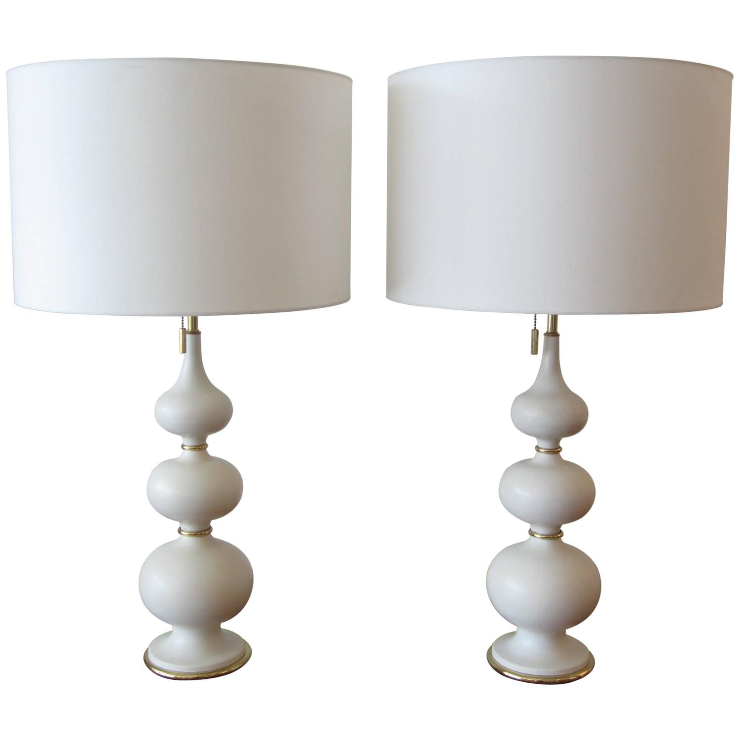 thurston matte porcelain stacked gourd lamps for sale at 1stdibs. Black Bedroom Furniture Sets. Home Design Ideas