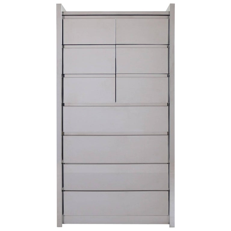 Karl Springer Dresser or Armoire For Sale