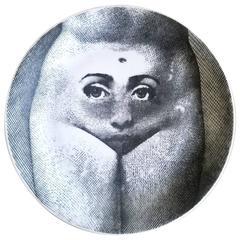 Piero Fornasetti Plate Tema E Variazioni #281