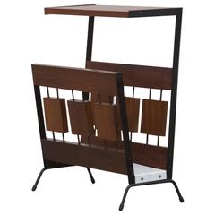 Cees Braakman Wood Block Telephone Table and Magazine Rack