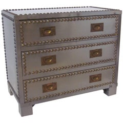 Stainless and brass Studded Industrial Styled Jewelry Chest / Box