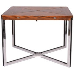 Dyrlund Rare Expandable Wenge and Steel Dining Table