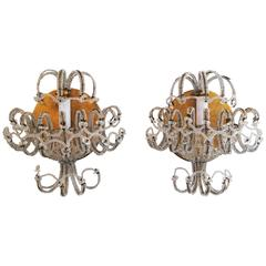 Pair of Italian Wall Lamps, circa 1940