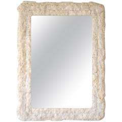 Postmodern Tessellated Stone Wall Mirror