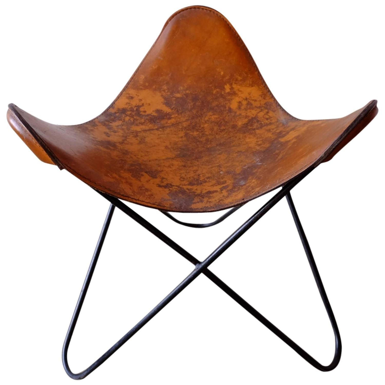 Rare Butterfly Stool By Jorge Ferrari Hardoy For Knoll At