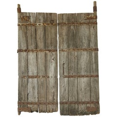 Pair of Large Antique Chinese Oak Gate Doors