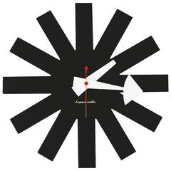 Asterisk Clock by George Nelson for Howard Miller, Rare